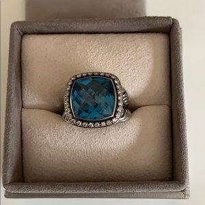 David Yurman blue stone ring